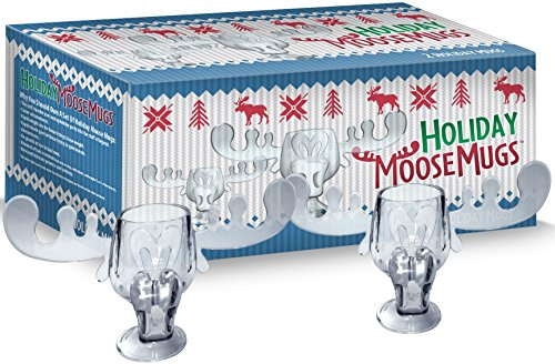 Holiday Moose Mugs - Christmas Vacation Inspired Box Set Of 2 (Moose Marty)