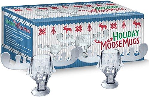 Holiday Moose Mugs - Christmas Vacation Inspired Box Set Of 2 Christmas Moose Mugs