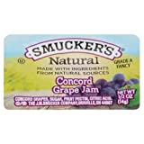 Smucker's Natural Concord Grape Jam, 0.5 Ounce (Pack of 200)