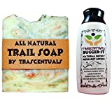 Outdoors Soap and Insect Repellent Combo Bugger-It Lotion w/Lemongrass Essential Oil as Active Ingredient and All Natural Trail Soap