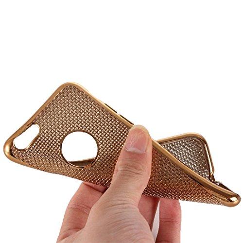 Phone Taschen & Schalen Für iPhone 6 Plus & 6s Plus Gitter Textur Galvanotechnik TPU Schutzhülle ( Color : Gold )