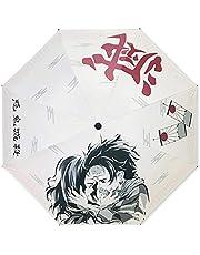 UCAI Demon Slayer Paraguas, Anime Japonés engrosado, impermeable, pantalla de tela PG, multicinética de energía plegable paraguas