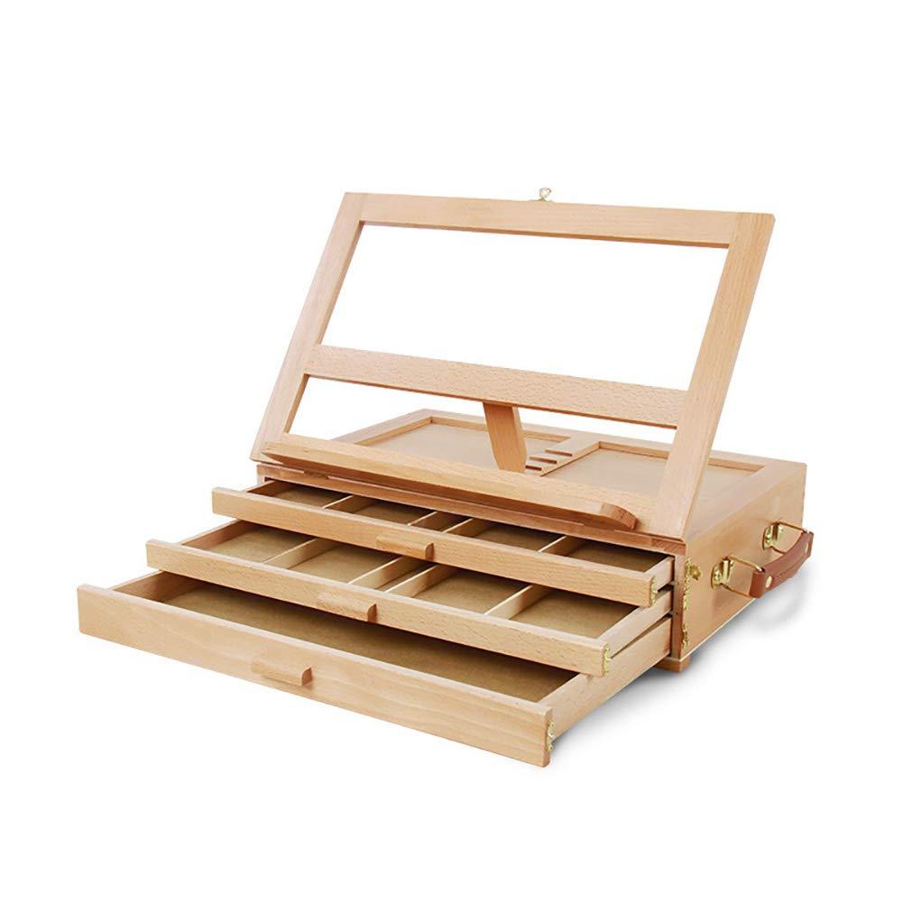 エルムテーブルトップイーゼル3段引き出しイーゼルデスクトップ絵画ボックス木製ポータブルティーチング木製図面スタンド B07GSLB56H B07GSLB56H, 株式会社171:aa386557 --- ijpba.info
