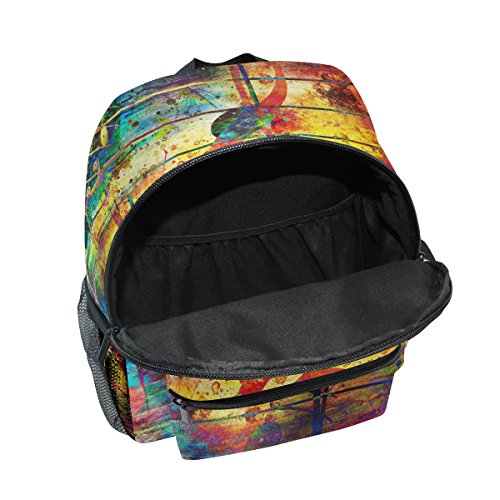 Note Music School Abstract Backpack Boy for Colorful Bag Pre Toddler ZZKKO Retro Girls Kindergarten Kids fw48tfqE