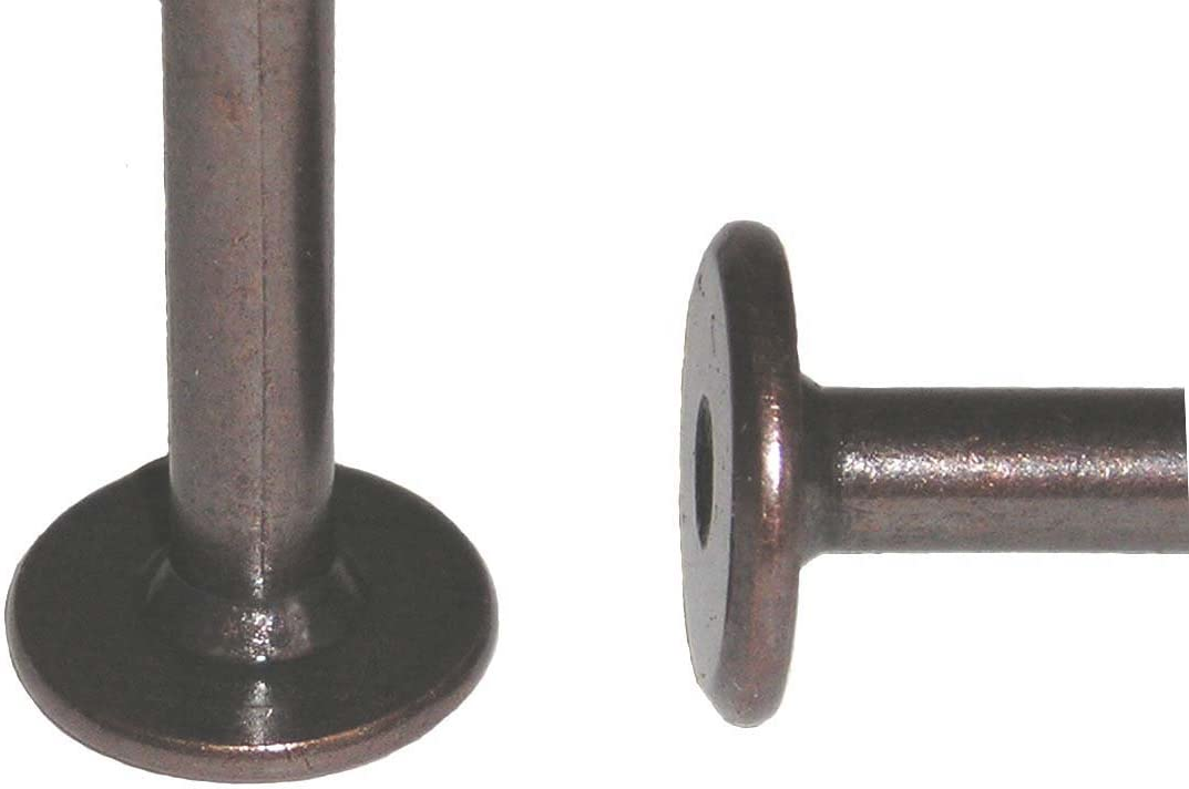 6 Pieces Belle and the Yank 1//4-20 TPI x 35mm 1-3//8 Hex Drive Button Head Furniture Bolts Dark Bronze Finish