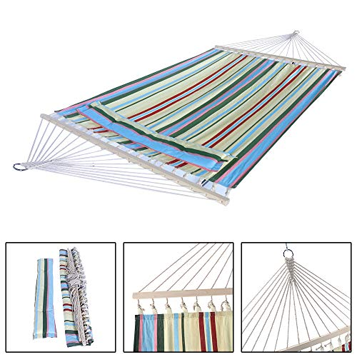(HomVent Double Hammock,Stylish Printing Style Hammock Beach Swing Double Beds for Backpacking, Camping, Travel, Beach, Yard)
