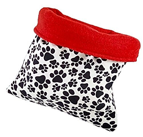 Red and paw print pet snuggle sack 3 layers 20'' x 24''