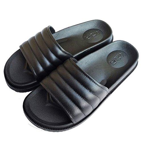 cuarto de un de femenino verano Baño baño con stay home playa un zapatillas antideslizante DogHaccd exterior Zapatillas cool de verano Negro2 El zapatillas par hembra masculino desgaste w6qEp
