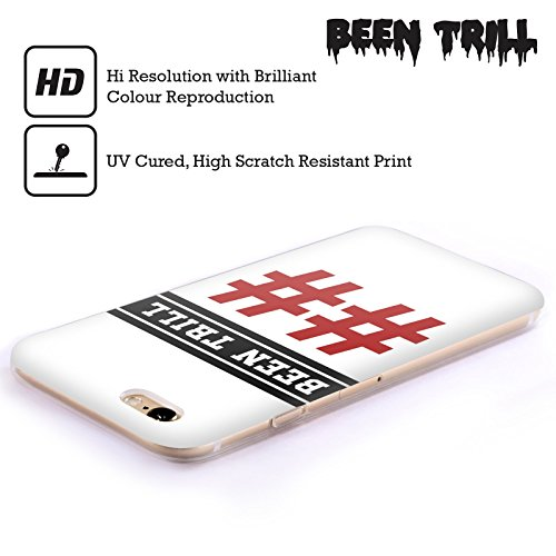 Official Been Trill Red Double Hashtag Jersey Soft Gel Case for Apple iPhone 5c