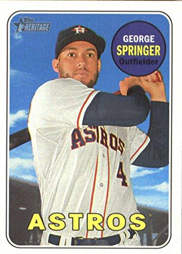 2018 Topps Heritage #360 George Springer Houston Astros Baseball Card