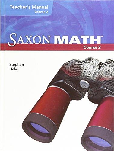 Saxon Math, Course 2: Teacher's Manual, Vol. 2