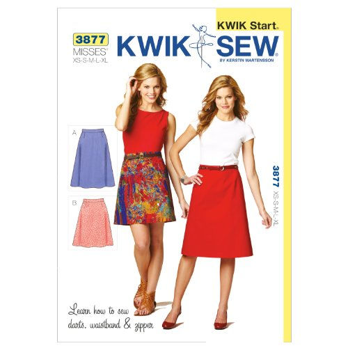 Kwik Sew K3877 Skirts Sewing Pattern, Size XS-S-M-L-XL (Sewing Sew Kwik Patterns)