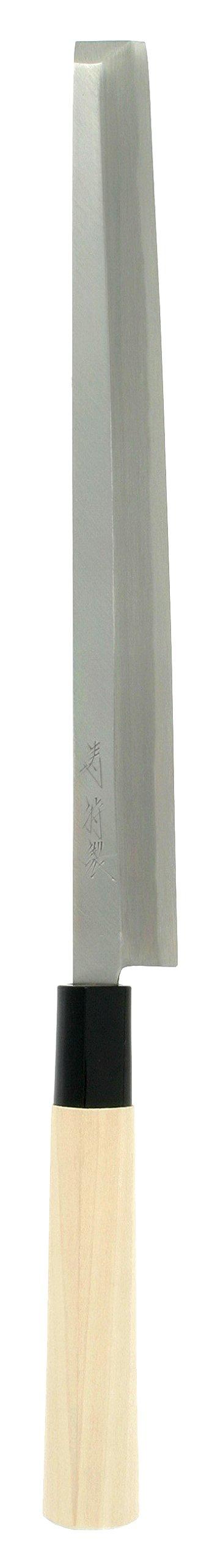 Kotobuki High Carbon Japanese Takobiki Sashimi Knife, 240mm, Silver by Kotobuki
