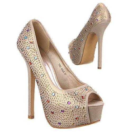 Ital-Design - Plataforma Mujer Dorado - dorado