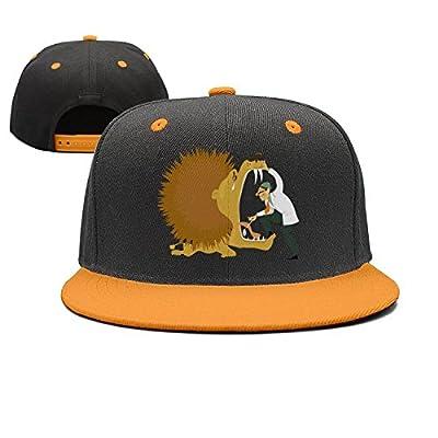 ZhongQi Cartoon Lion and Dentist Man Popular Hip hop Contrast Color Cap Snapback Hat Baseball Cap