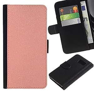 KingStore / Leather Etui en cuir / Samsung Galaxy S6 / Papier de verre en plastique rose