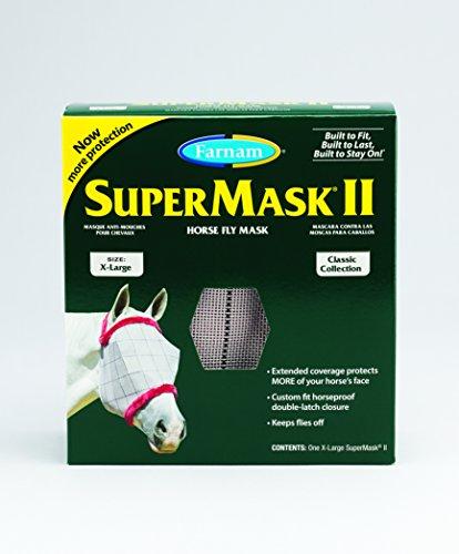 Farnam SuperMask II Classic Horse Fly Mask, X-Lrg, Assorted ()