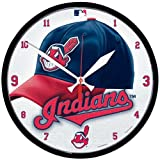 Wincraft MLB 2903512 Cleveland Indians Round Wall Clock, 12.75-Inch