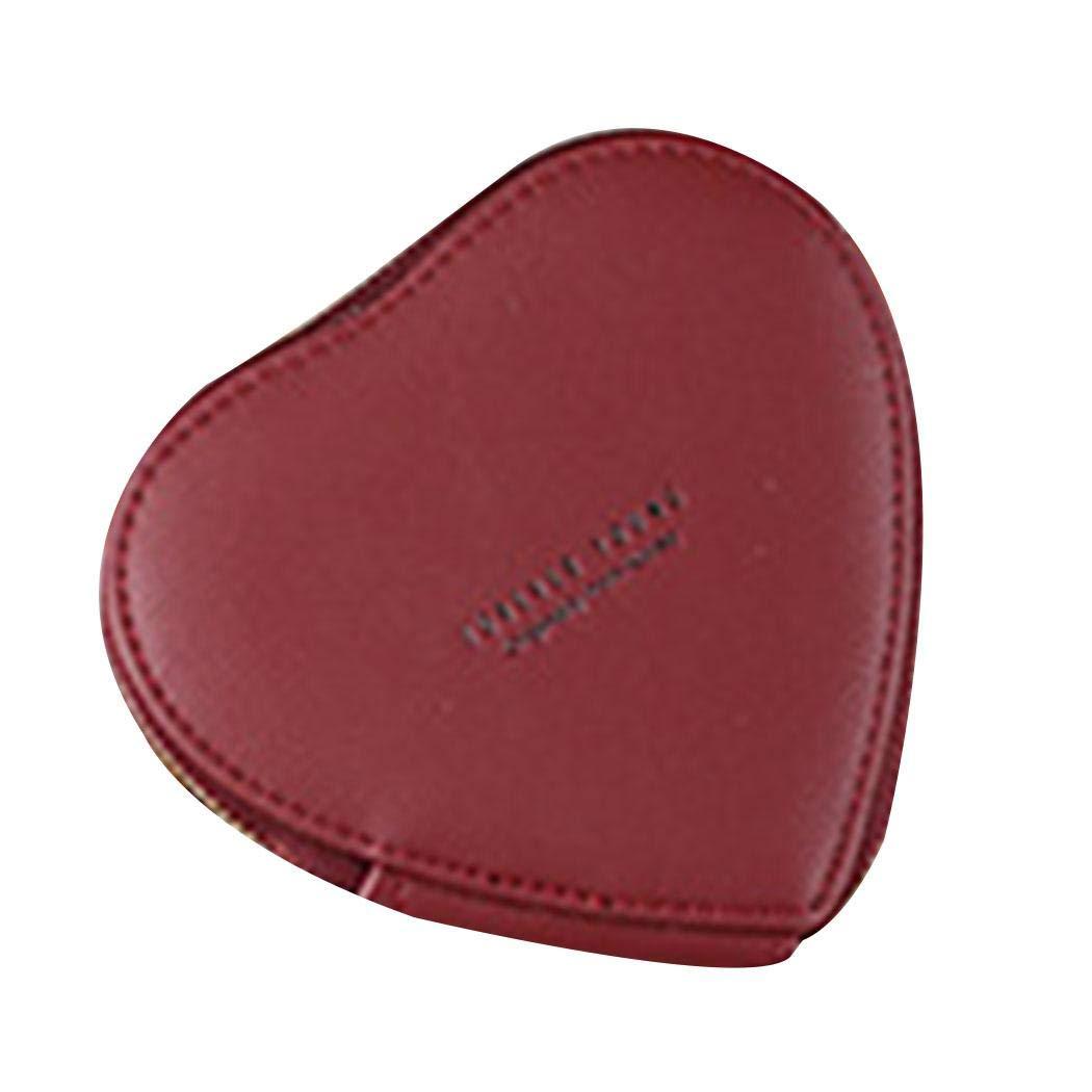 Kemite Women Casual Heart Shape Letter Print Tassel Zipper Closure Coin Bag Coin Purses /& Pouches