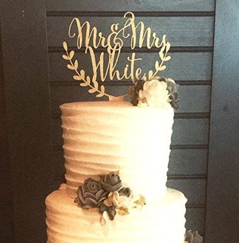 Mr and Mrs cake topper, rustic wooden cake topper, wedding cake decoration, personalized cake topper, custom made cake topper