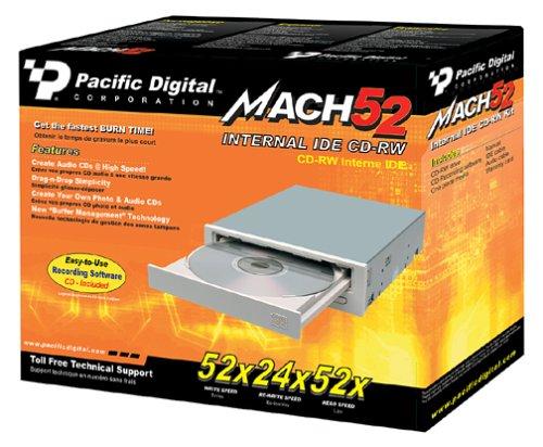 Pacific Digital 52x24x52 Internal IDE CD-RW Drive by Pacific Digital
