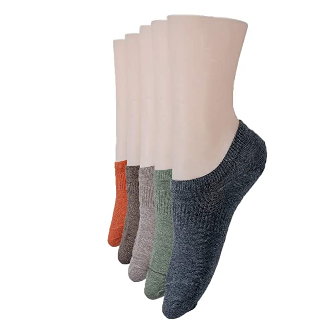 e28ffff71bfa khy 5 Pack Low Cut Socks for Women No-Show Cotton Ankle Socks at ...