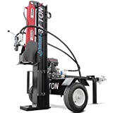 Titan Towable Power Hydraulic 2 Way Log Wood Splitter 37 Ton Pull Electric Start