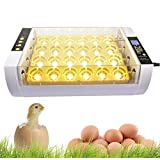Automatic Egg Incubator with Automatic Temperature Control Functions, Digital Poultry General Purpose Incubators for Chickens Ducks Birds (24 Egg)