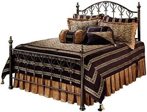 Hillsdale Furniture Huntley Bed Set with with Rails, Queen, Bronze