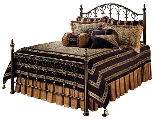 Hillsdale Furniture Huntley Bed Set with with Rails, Queen, Bronze from Hillsdale Furniture