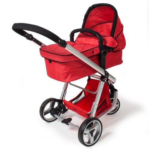 Tectake 3 en 1 sillas de paseo coches carritos para bebes convertible rojo - Tectake silla de coche para ninos ...