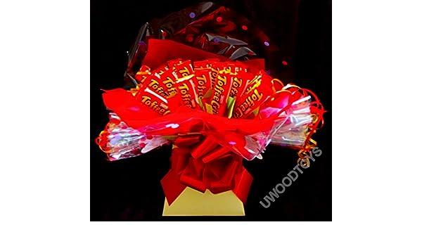 Sweety candy de árboles~marrón diseño de ramo de flores en caja placa personalizable en inglés para cada vez que lo~~diseño de entregado en caja de regalo: ...