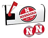 Nebraska Cornhuskers Magnetic Mailbox Cover and