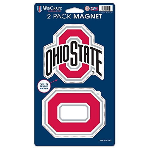 "WinCraft NCAA Ohio State University WCR28580014 Magnets (2 Pack), 5"" x 9"""