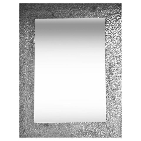 PTM Hammered Metal Mirror - Silver by ptm