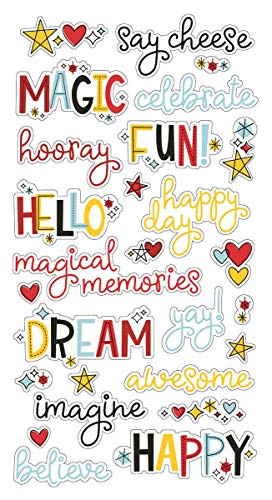 Simple Stories Say Cheese 4 Chipboard Word Stickers 6
