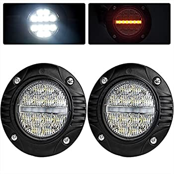 led industries rigid mount flush lights lighting diffused driving dually part w wflush fog