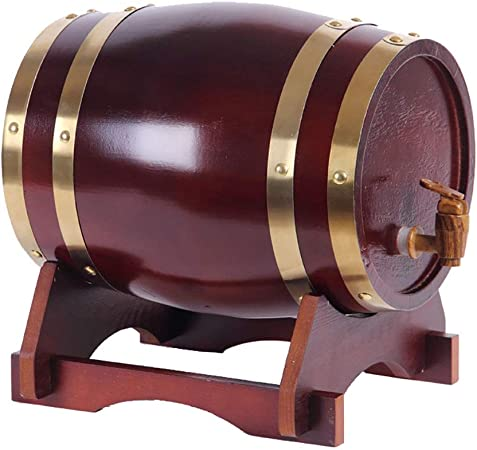 Opinión sobre SS mutong Barril de Roble Dispensador de Whisky Estilo de Barril de Roble de Madera for Almacenar Vino, Brandy, Whisky, Tequila Vino, Cerveza, Sidra, Whisky. (Color : C, Size : 3L)