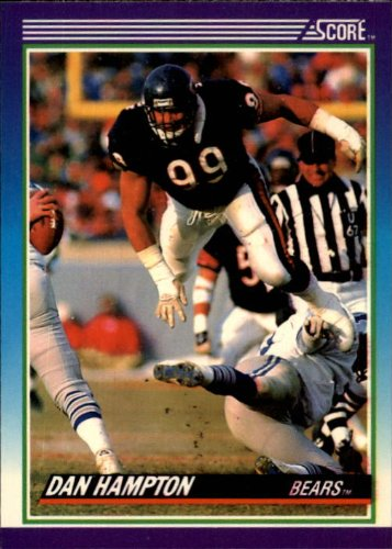 - 1990 Score Football Card #201 Dan Hampton