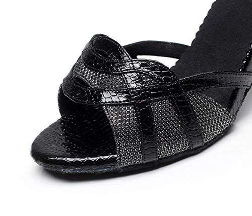 Dorado Our39 Sandalias 5 Latino Lentejuelas Con Jazz Zapatos 5cm tango Para Eu38 Yingsssq Brillos Tacones té De Altos zapatos Blackheeled7 Salsa Salón uk5 samba 5cm moderno Baile Destapado7 qwHta4