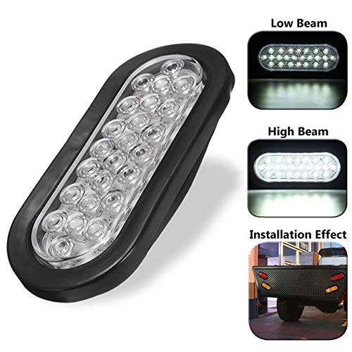 BEESCLOVER New 24 LED White Truck Trailer Bus Side/Brake/Tail Reverse Light Long Lifespan Show One Size by BEESCLOVER