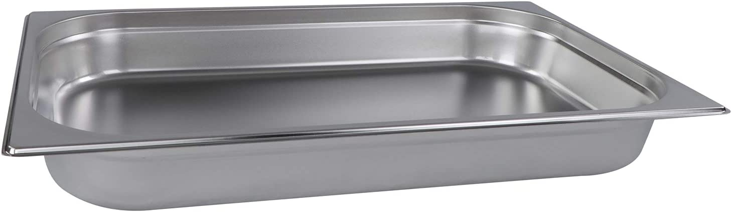 Lot45 Stainless Steel Steam Pan - Full Size Hotel Table Pans, Chafing Buffet Restaurant Trays for Catering, 3in Deep 1pk