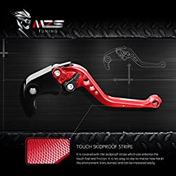 MZS Short Brake Clutch Levers for Yamaha YZF R3 2013-2016, YZF R25 2013-2016 Red