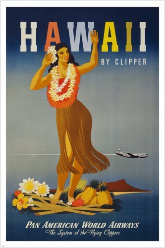 hawaiian retro posters