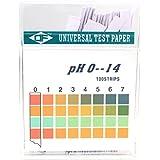 Plastic pH Test Strips, Universal Application (pH 0~14), 100 strips