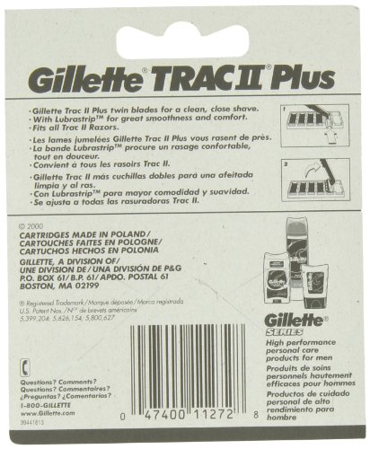 Gillette TRAC II Plus Razor Blade Refill Cartridges - 10 Count (Pack of 2) by Gillette (Image #1)