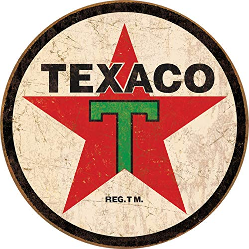 - Tin Signs TSN1798-BRK Texaco Round, 11.75 x 11.75 x 0.1 inches