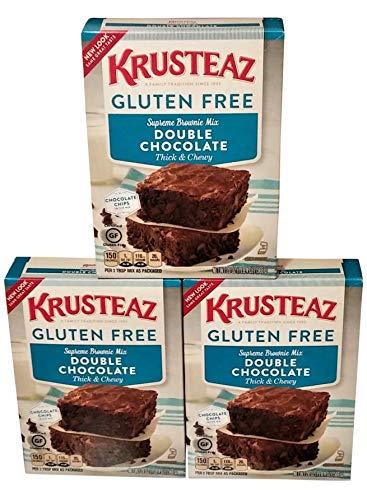 Krusteaz Gluten Free Double Chocolate Brownie Mix (Pack of 3) (Free Gluten Brownie)
