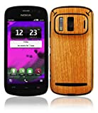 Skinomi TechSkin - Nokia 808 PureView Screen Protector + Light Wood Full Body Skin / Front & Back Premium HD Clear Film / Ultra Invisible and Anti Bubble Shield