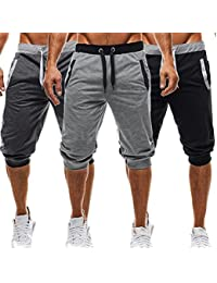 Men's Casual Elastic Waist Harem Training Jogger Sport Short Baggy Pants
